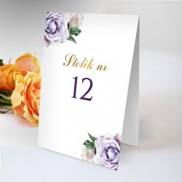 Numery stolików na wesele Akwarela 01