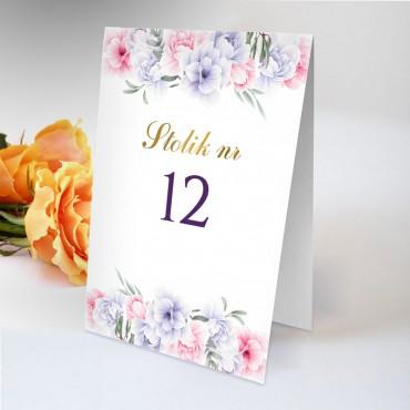 Numery stolików na wesele Akwarela 05