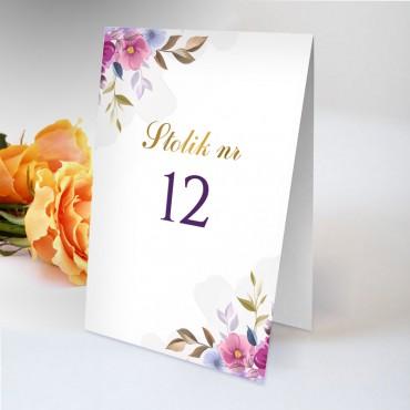 \Numery stolików na wesele Akwarela 06
