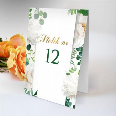 Numery stolików na wesele Akwarela 08