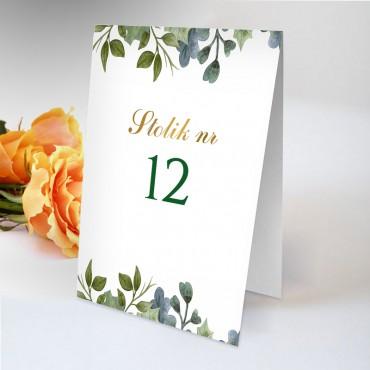 Numery stolików na wesele Akwarela 10