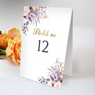 Numery stolików na wesele Akwarela 11