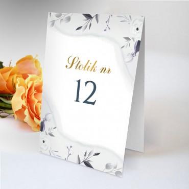 Numery stolików na wesele Akwarela 12