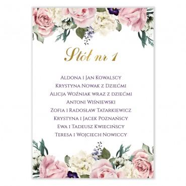 Plan stołów na wesele Akwarele 04