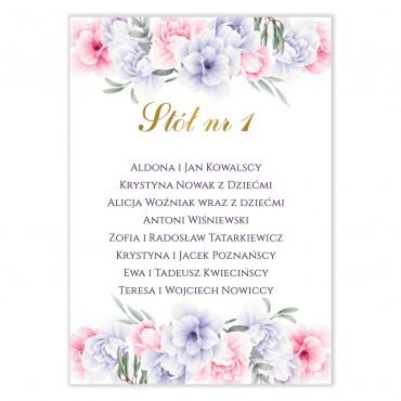 Plan stołów na wesele Akwarele 05