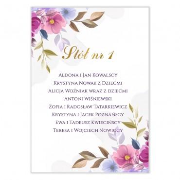 Plan stołów na wesele Akwarele 06
