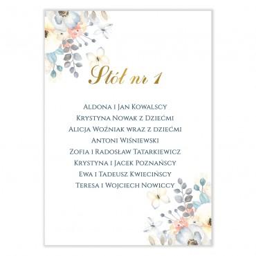 Plan stołów na wesele Akwarele 07