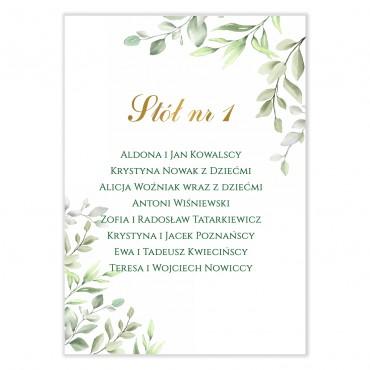 Plan stołów na wesele Akwarele 09
