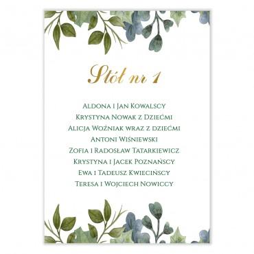 Plan stołów na wesele Akwarele 10
