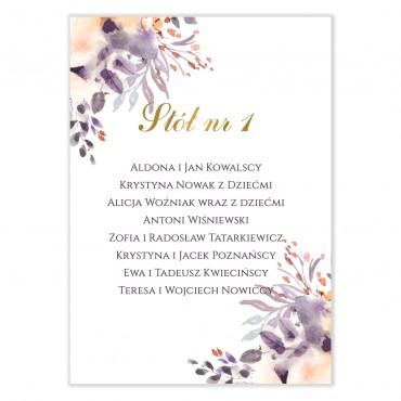 Plan stołów na wesele Akwarele 11