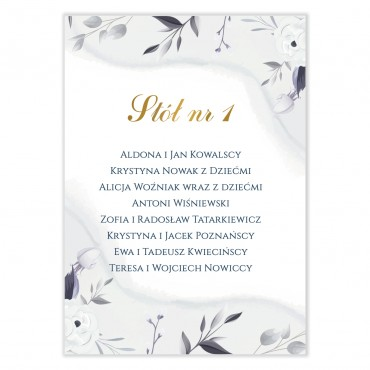 Plan stołów na wesele Akwarele 12