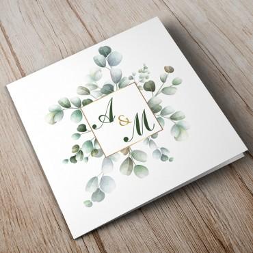 Zaproszenia Ślubne Eukaliptus nr 06