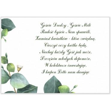 Bileciki do Zaproszeń Eukaliptus 11