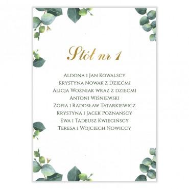 Plan stołów na wesele Eukaliptus 11