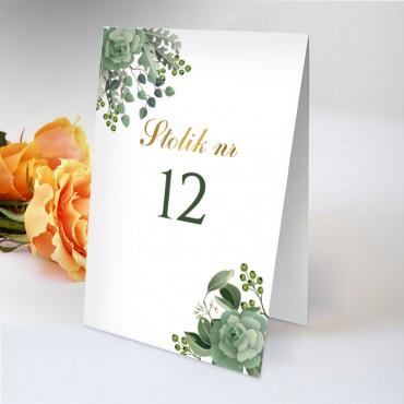 Numery stolików na wesele Eukaliptus 01