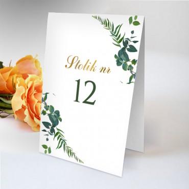 Numery stolików na wesele Eukaliptus 02