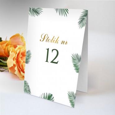 Numery stolików na wesele Eukaliptus 03