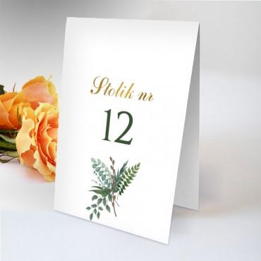 Numery stolików na wesele Eukaliptus 07