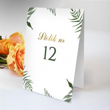Numery stolików na wesele Eukaliptus 08
