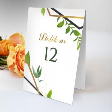 Numery stolików na wesele Eukaliptus 10