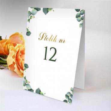 Numery stolików na wesele Eukaliptus 11