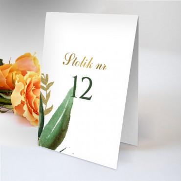 Numery stolików na wesele Eukaliptus 12