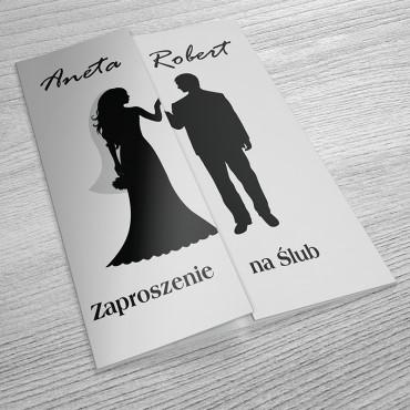 Zaproszenia Ślubne Black&White nr 01