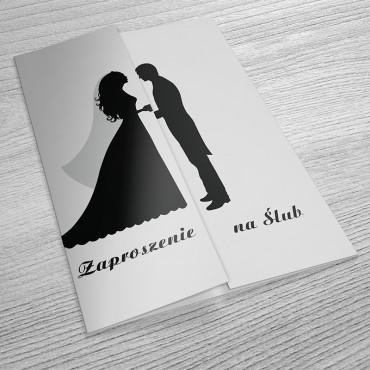 Zaproszenia Ślubne Black&White nr 02