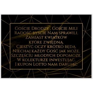 Bileciki do Zaproszeń Marmur i Złoto 03