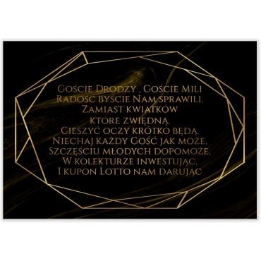 Bileciki do Zaproszeń Marmur i Złoto 05