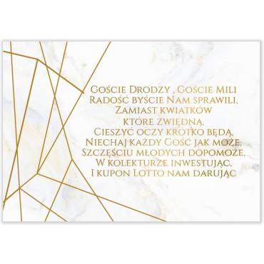Bileciki do Zaproszeń Marmur i Złoto 10