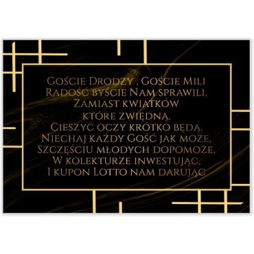Bileciki do Zaproszeń Marmur i Złoto 11