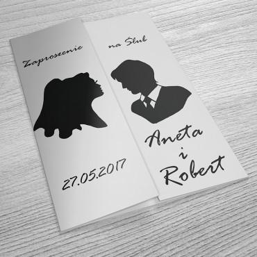 Zaproszenia Ślubne Black&White nr 03