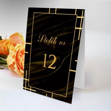 Numery stolików na wesele Marmur i...