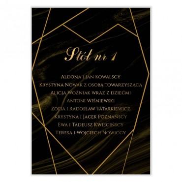 Plan stołów na wesele Marmur i Złoto 01