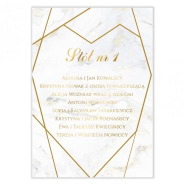 Plan stołów na wesele Marmur i Złoto 02
