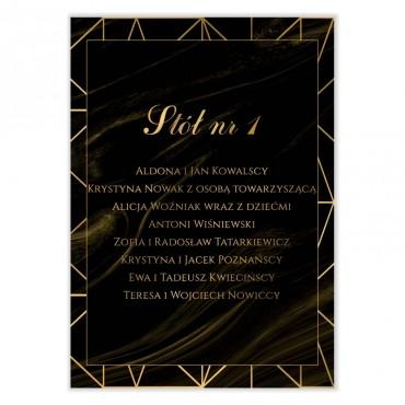 Plan stołów na wesele Marmur i Złoto 07