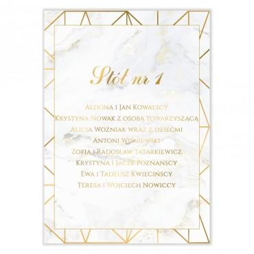 Plan stołów na wesele Marmur i Złoto 08