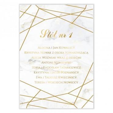 Plan stołów na wesele Marmur i Złoto 10