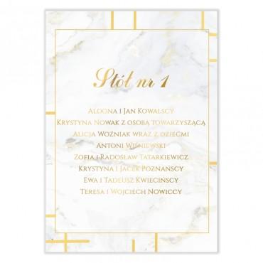 Plan stołów na wesele Marmur i Złoto 12