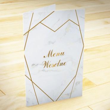 Menu weselne Marmur i Złoto 02