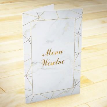 Menu weselne Marmur i Złoto 04