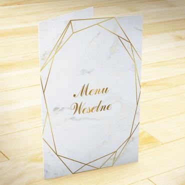Menu weselne Marmur i Złoto 06
