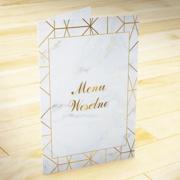 Menu weselne Marmur i Złoto 08