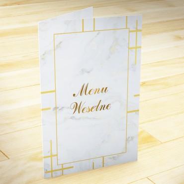 Menu weselne Marmur i Złoto 12