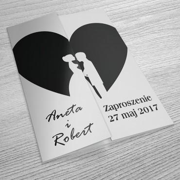 Zaproszenia Ślubne Black&White nr 05