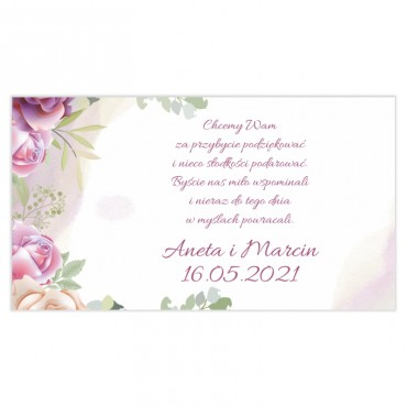 Etykiety na ciasto weselne Pastelowe 06