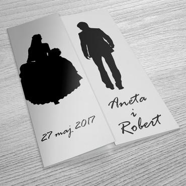 Zaproszenia Ślubne Black&White nr 07