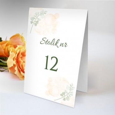 Numery stolików na wesele Pastelowa 01