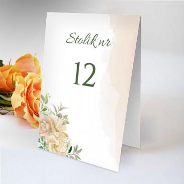 Numery stolików na wesele Pastelowa 02